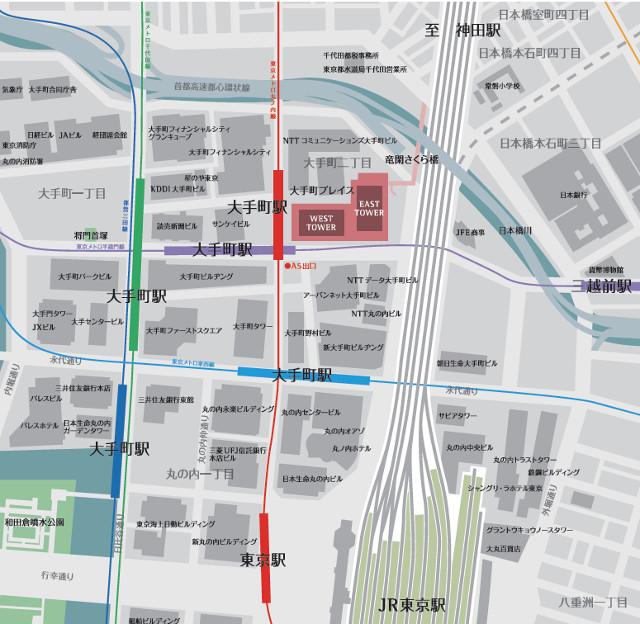 大手町プレイス地図20180706