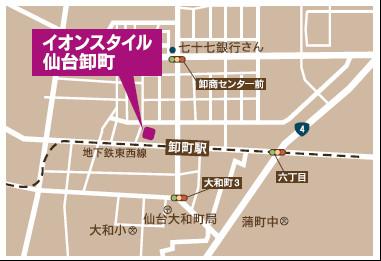 イオンスタイル仙台卸町_地図20180714