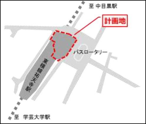 東急祐天寺駅ビル地図20180703