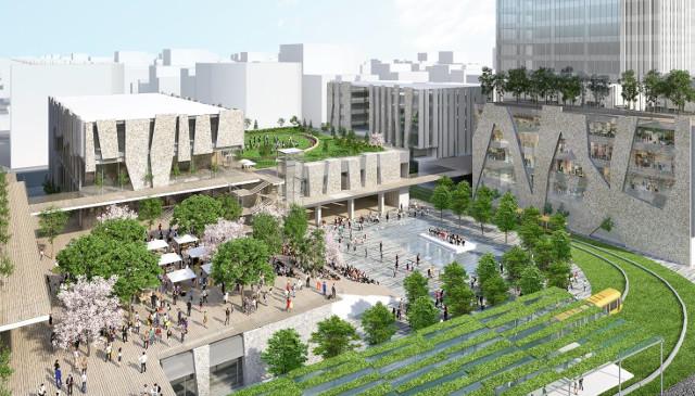 宇都宮駅東口複合施設完成イメージ20180730