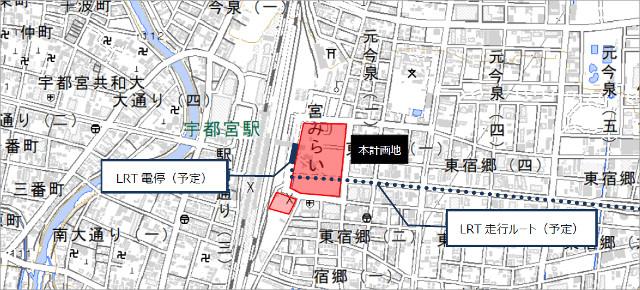 宇都宮駅東口複合開発地図20180730
