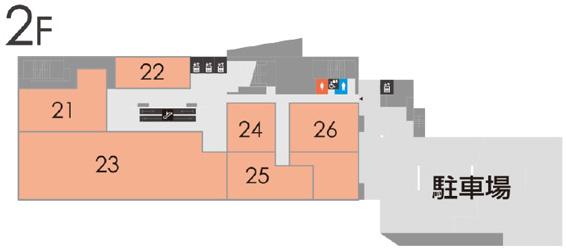 鈴蘭台駅前再開発ビル2階フロアマップ20180828