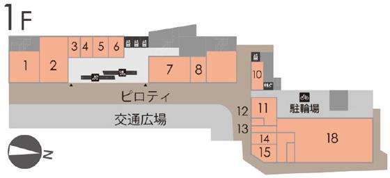 鈴蘭台駅前再開発ビル1階フロアマップ20180828