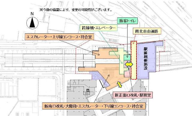 南町田グランベリーパーク駅_構内図20180819