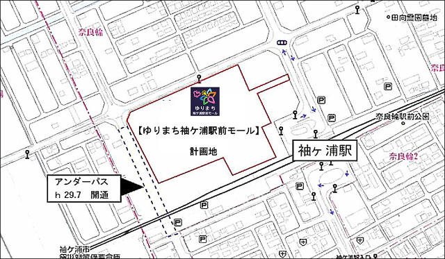 ゆりまち袖ヶ浦駅前モール地図640_20180824