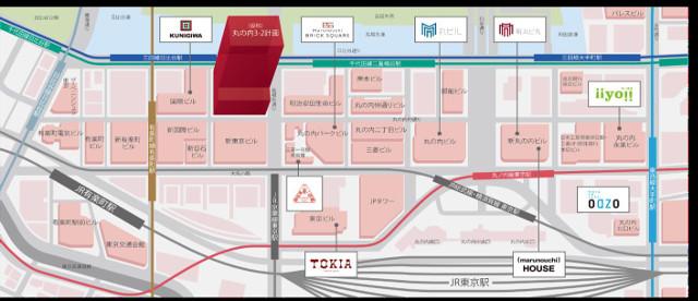 丸の内二重橋ビル地図20180809