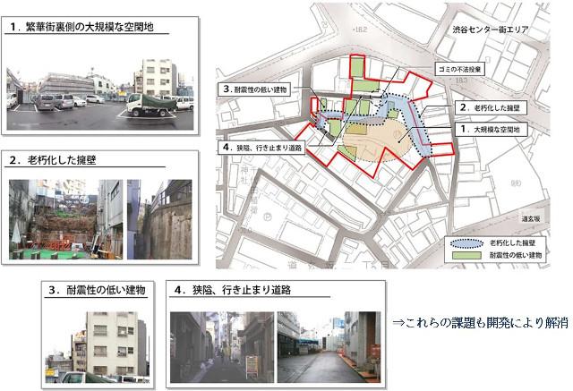ドンキホーテ渋谷区道玄坂二丁目開発計画仮称_敷地の課題20180813