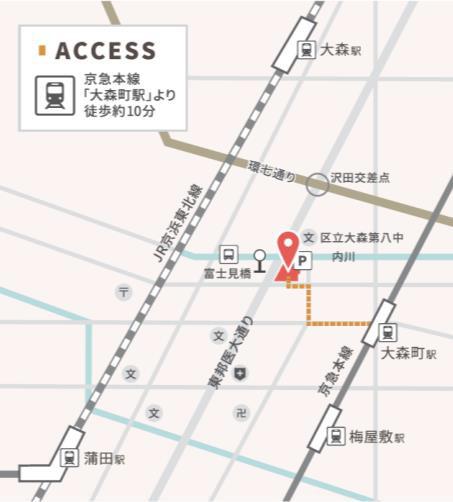 マチノマ大森_地図20180817