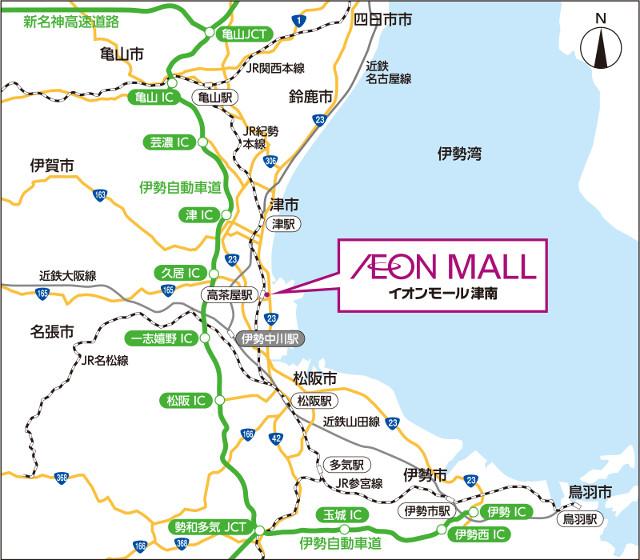 イオンモール津南広域地図20180907