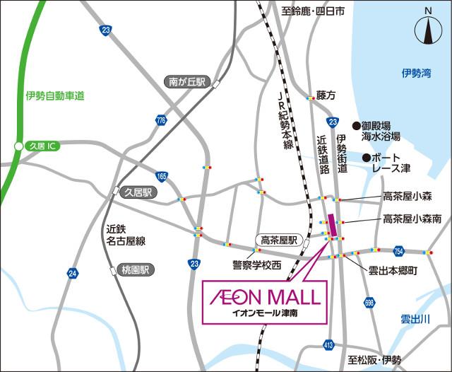 イオンモール津南周辺地図20180907