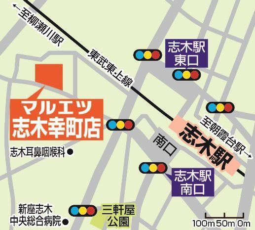 マルエツ志木幸町店地図20180916