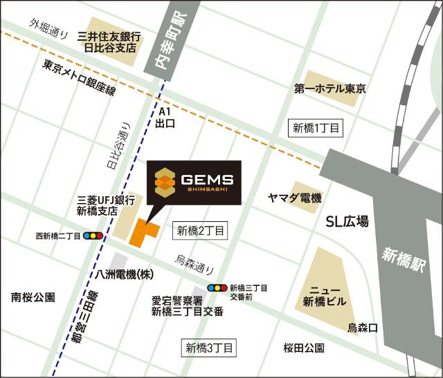 ジェムズ新橋地図20180906