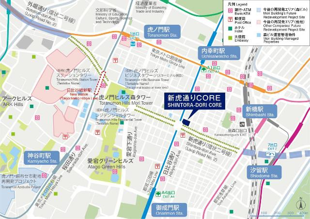 新虎通りCORE地図20181006