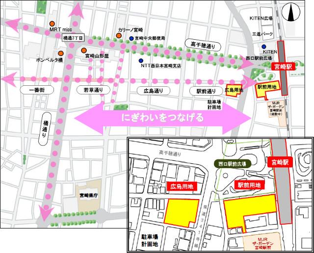 JR宮交ツインビル_アミュプラザ宮崎_地図20181019