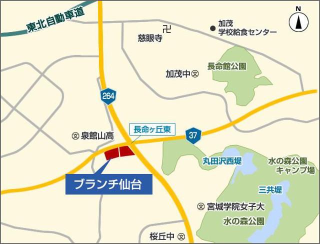 ブランチ仙台地図20181112