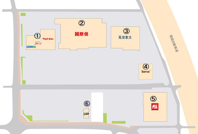 原信小出ショッピングセンターフロアマップ20181103