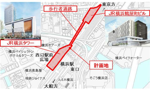 JR横浜タワー_JR横浜鶴屋町ビル_地図20181125