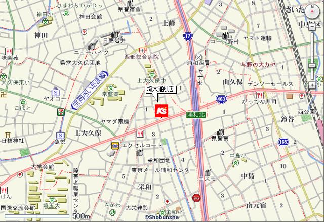 ケーズデンキ埼大通り店地図20181208