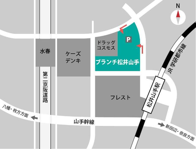 ブランチ松井山手_地図20181207