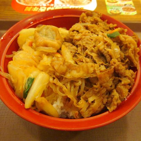 すき家牛すき焼き丼2018大盛賞味サムネイル480調整後