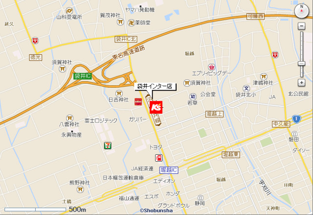 ケーズデンキ袋井インター店地図20190126