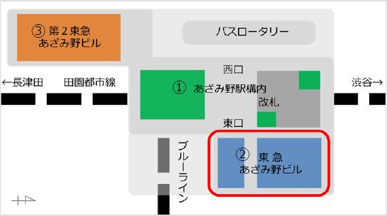 エトモあざみ野_東急あざみ野ビル_地図20190227