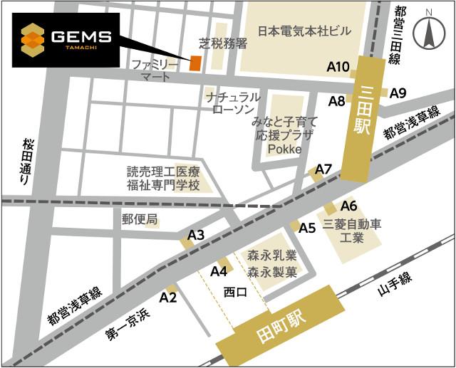 ジェムズ田町_GEMS田町_地図_20190221