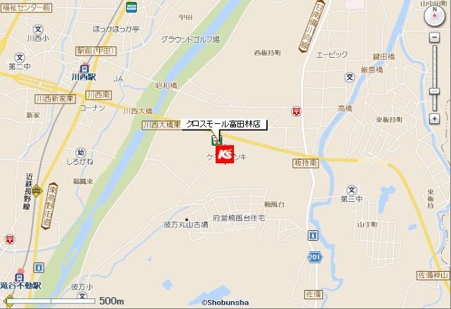 ケーズデンキ_クロスモール富田林店_地図_20190216