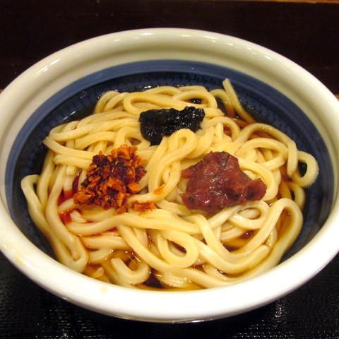 丸亀製麺で桃屋トッピング3種類全部載せ2019賞味サムネイル480調整後