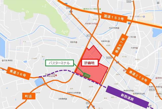 ららぽーと愛知東郷町_仮称_周辺地図20190227