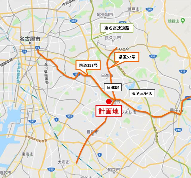 ららぽーと愛知東郷町_仮称_広域地図20190227