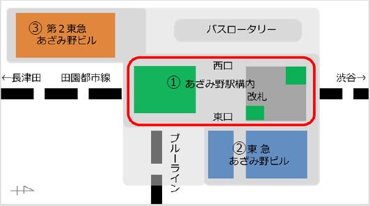 エトモあざみ野_あざみ野駅構内_地図20190227