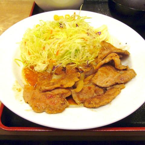 松屋豚肩ロースの生姜焼定食2019大盛賞味サムネイル480調整後2