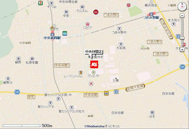 ケーズデンキ中央林間店地図20190223