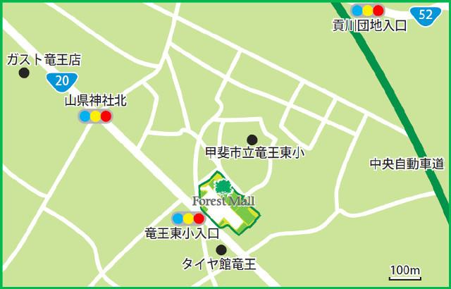 フォレストモール甲斐竜王_近隣地図_640_20190331