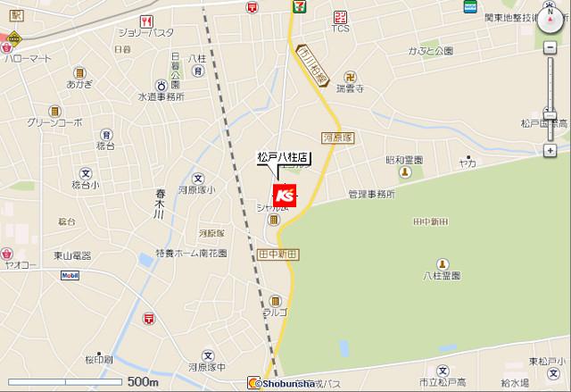 ケーズデンキ松戸八柱店地図20190330