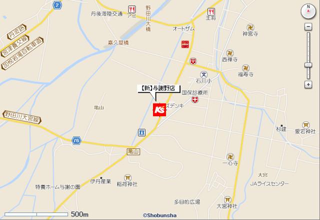ケーズデンキ新与謝野店地図20190309
