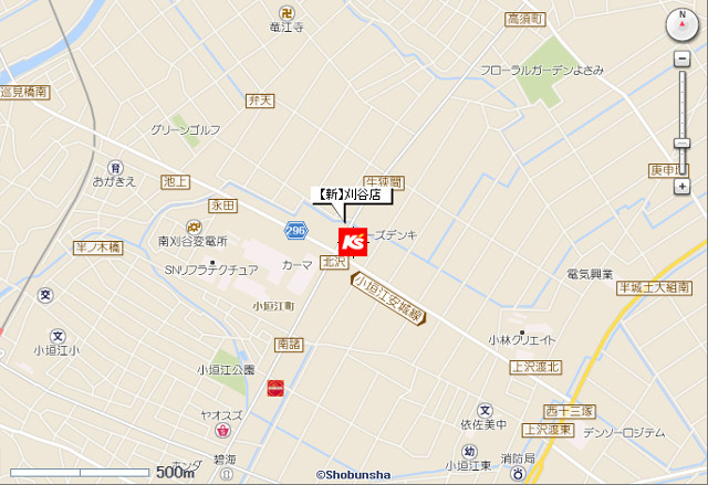 ケーズデンキ刈谷店地図20190323