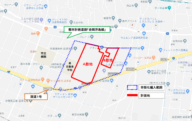 ららぽーと沼津_周辺地図20190307
