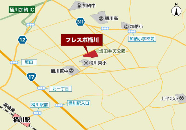 フレスポ桶川_地図_20190411