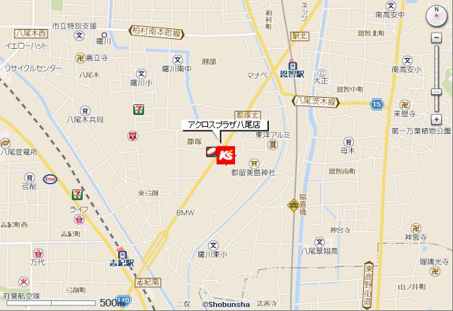 ケーズデンキアクロスプラザ八尾店地図20190407