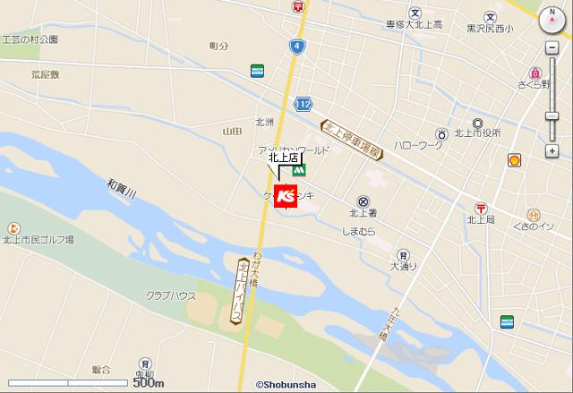 ケーズデンキ北上店地図20190414