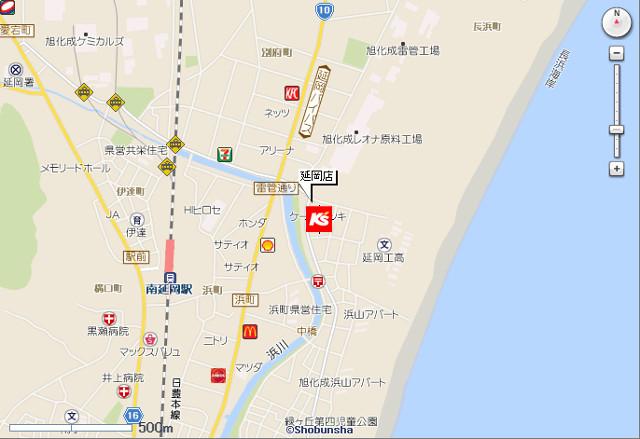 ケーズデンキ延岡店地図20190518