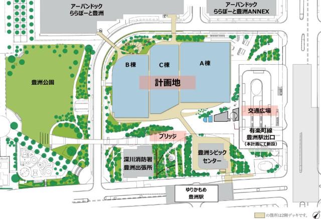 豊洲ベイサイドクロス敷地内配置図20190522