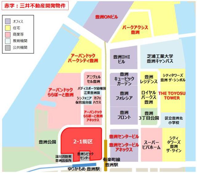 豊洲ベイサイドクロス周辺地図20190522