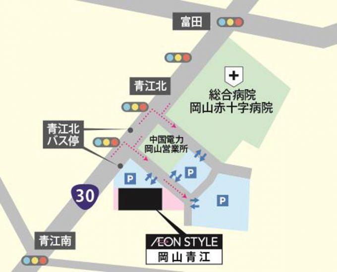 イオンスタイル岡山青江_地図_1205_20190625