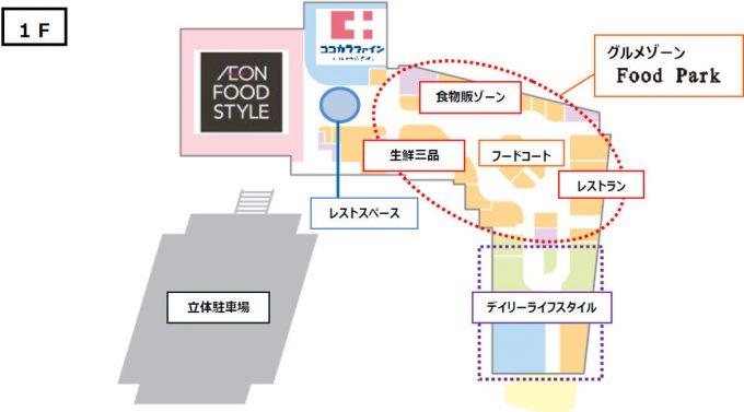 イオン藤井寺ショッピングセンター_1Fフロアマップ_1205_20190724