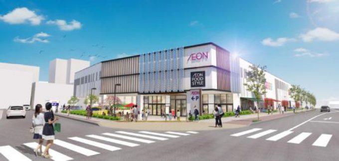 イオン藤井寺ショッピングセンター_藤井寺駅側からの外観イメージ_1205_20190724