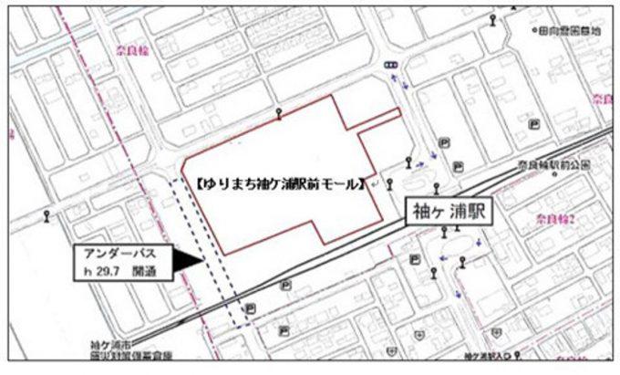 ゆりまち袖ヶ浦駅前モール_地図_1205_20190722
