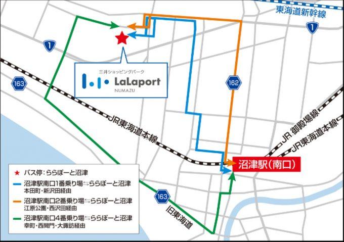 沼津駅からららぽーと沼津バス路線図1205_20190929